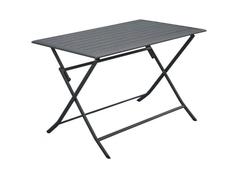 Table pliante en aluminium lorita 110 cm