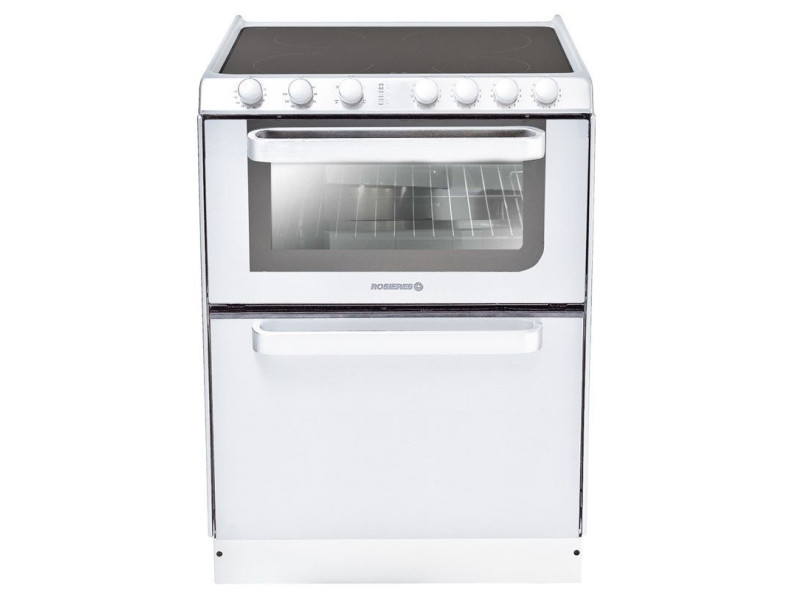 Cuisinière vitrocéramique 4 feux combiné lave-vaisselle 6c - trv60rb/u trv60rb/u
