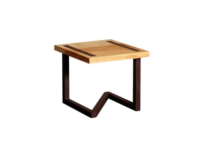 table de chevet design en bois et acier vente de barnabe conforama. Black Bedroom Furniture Sets. Home Design Ideas