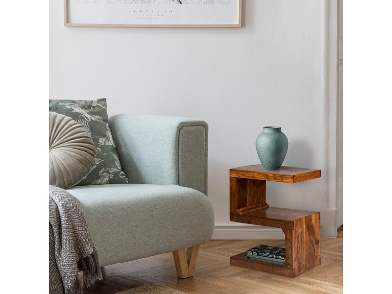 Table d'appoint marron, 45x30x60 cm, bois d'acacia massif 390002311