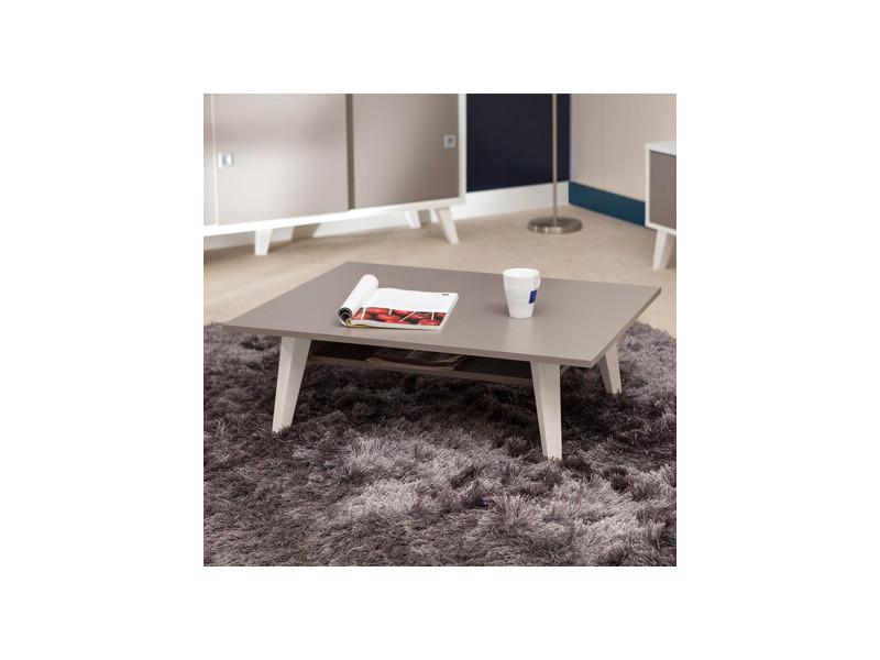 Table basse avec range revue et plateau taupe - sweden