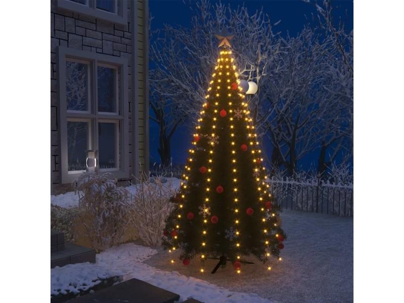 Inedit luminaires ensemble dublin guirlande lumineuse filet d'arbre de noël 250 led ip44 250 cm