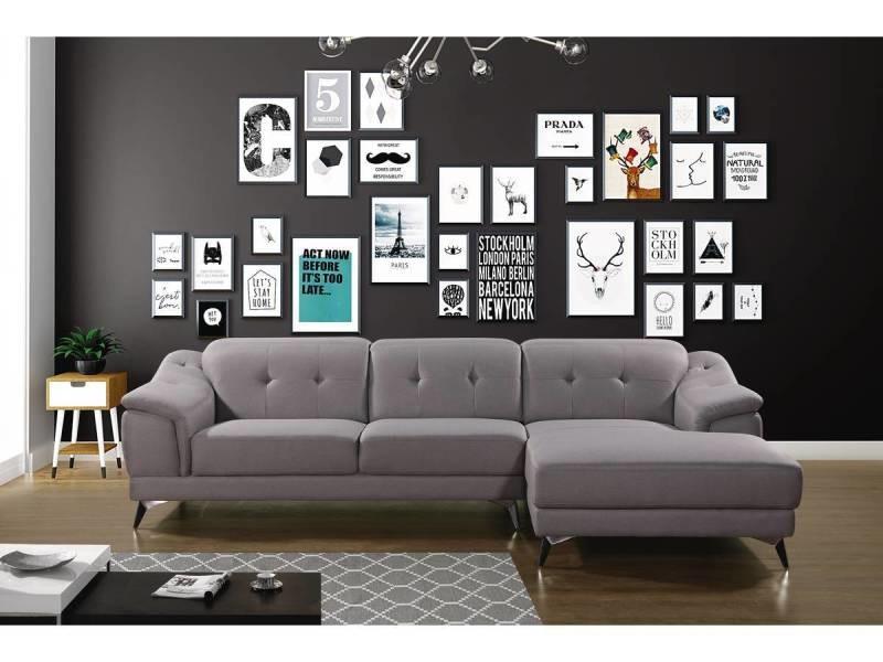 Canapé d'angle tissu \