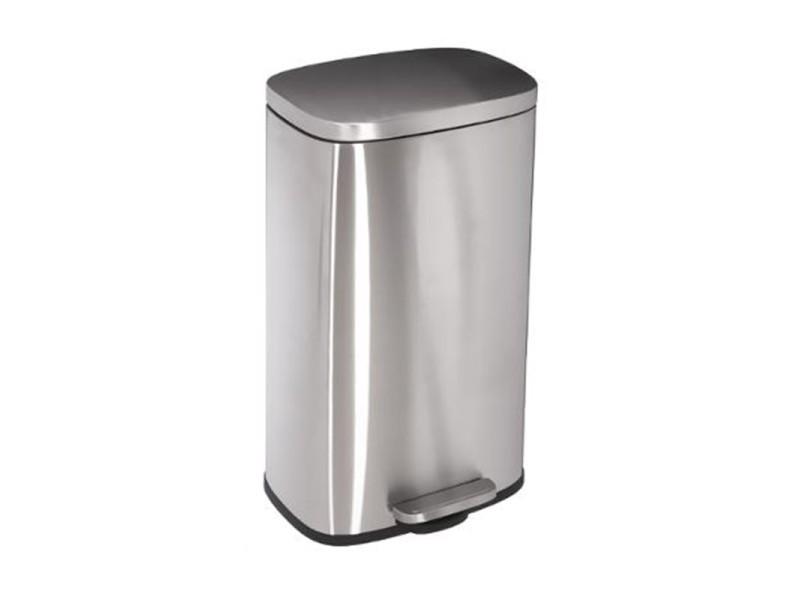 Poubelle pegasus - 35 x 30 x 63,5 cm - métal - gris