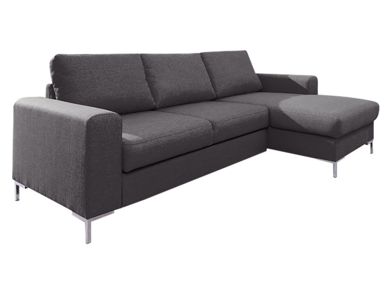 Canapé lilly angle droit convertible coffre gris anthracite 5906395167913