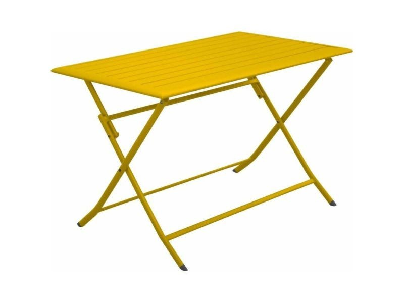 Table pliante en aluminium lorita 110 cm tournesol
