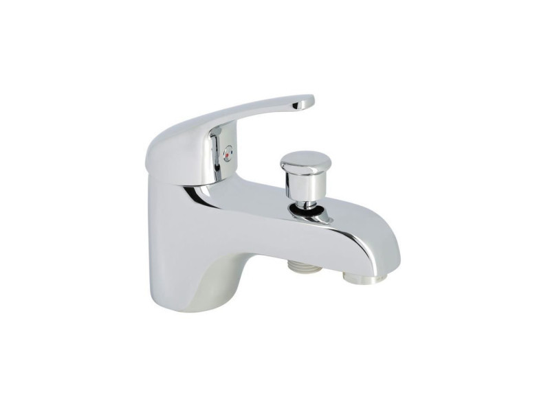 Robinet mitigeur mécanique baignoire et douche - chromé - monotrou nf ROU4056452