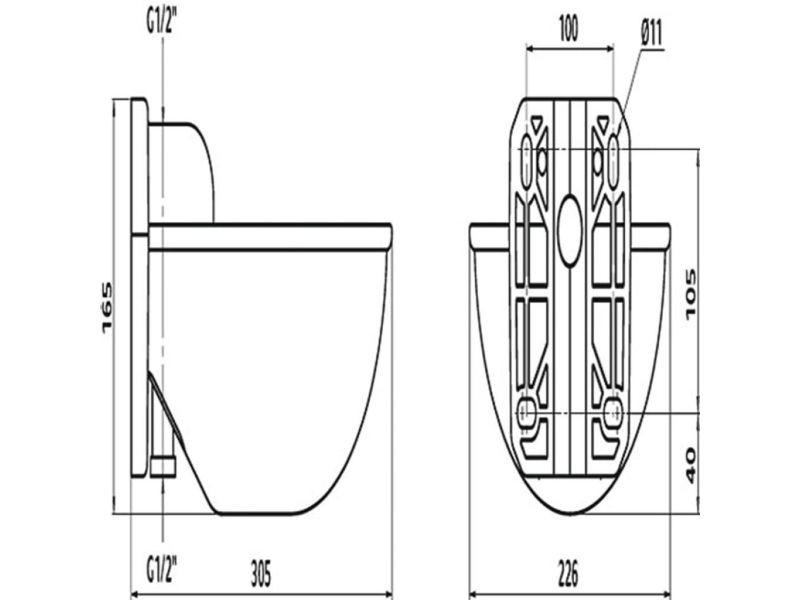Kerbl distributeur d'eau k71 plastique 221871 406396