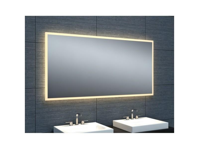 Miroir de salle de bains avec éclairage led - modèle épuré ...