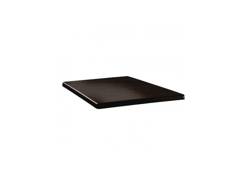 Plateau de table wengé carré 70 cm - topalit - bois