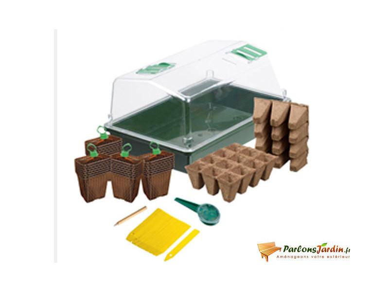 Kit mini-serre de culture pour semis et bouturage 37,5cm - Vente de ...