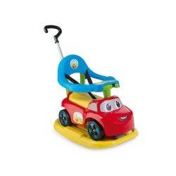 Porteur bébé smoby auto bascule rouge