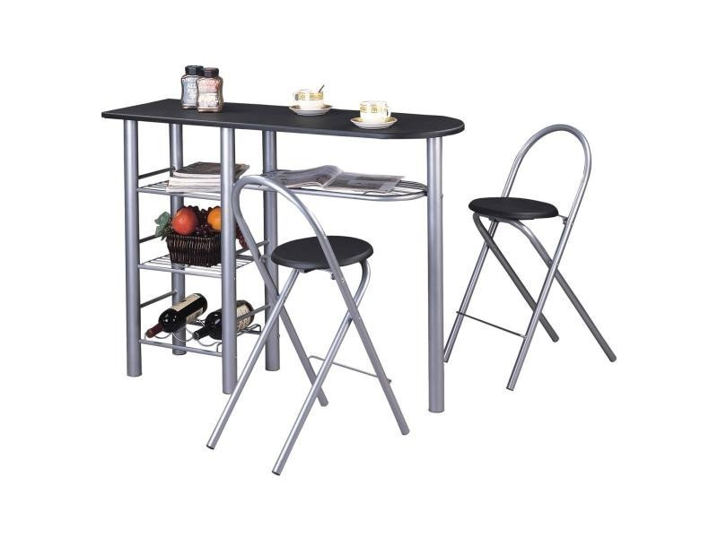 Ensemble style avec table haute de bar mange debout for Mange debout cuisine