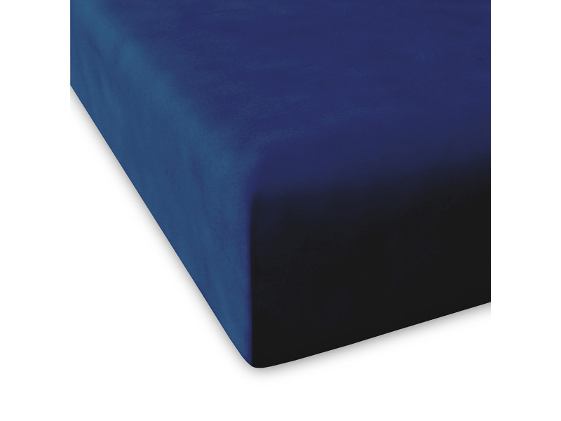 Drap housse casual |180x200+28 cm|bleu marine 49199