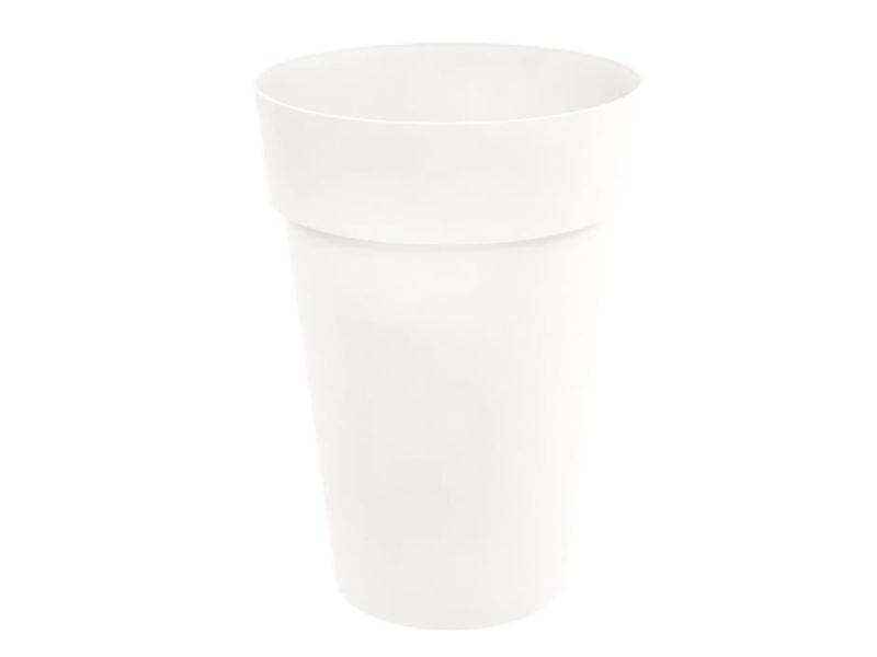 Jardiniere - bac a fleur eda vase toscane haut - ø 46 x h 65 cm - 67 l - blanc