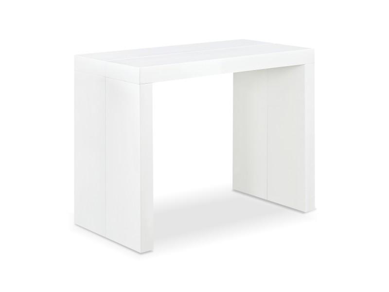 table console oxalys blanc laqu e vente de console conforama. Black Bedroom Furniture Sets. Home Design Ideas