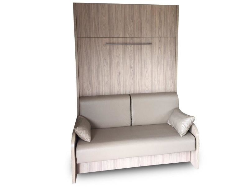 armoire lit escamotable space sofa canap int gr simili. Black Bedroom Furniture Sets. Home Design Ideas