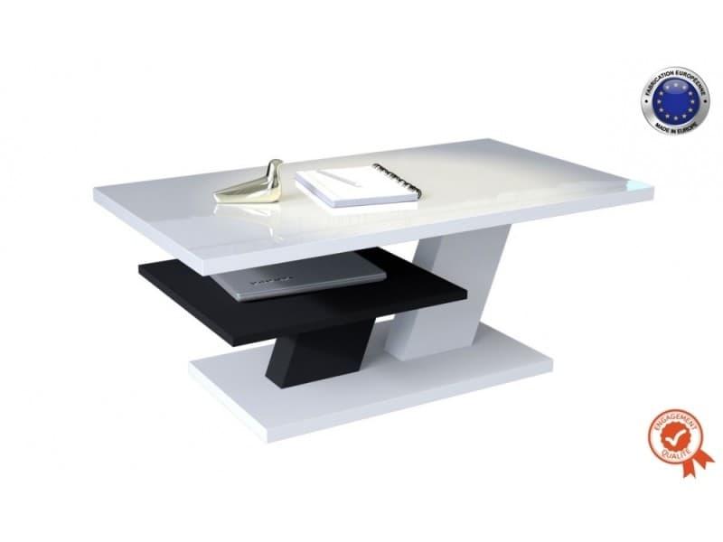 Table basse belvedere 110 cm avec plateau blanc laque