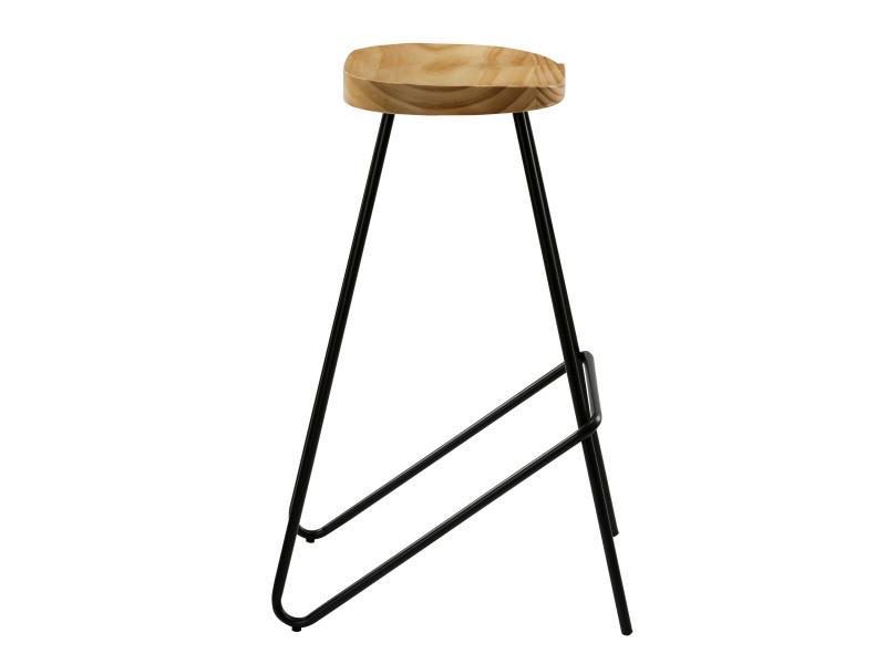 Chaise de bar victoire en bois (lot de 2) Vente de Bar et