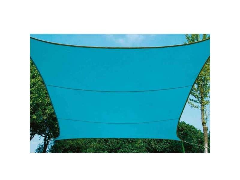 Voile d'ombrage carrée bleu azur 3,6m x 3,6m