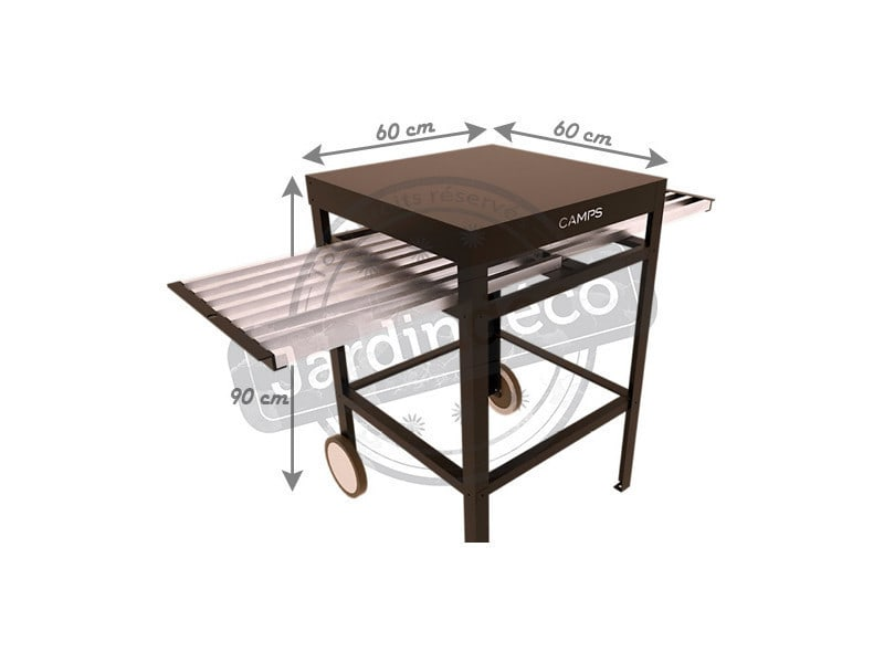 Billot de cuisine en aluminium avec plateau coulissant vente de camps conforama - Meuble tv avec plateau coulissant ...