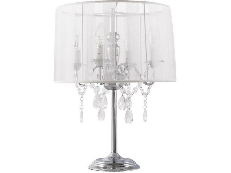 lampe de chevet baroque blanc vente de kokoon design conforama. Black Bedroom Furniture Sets. Home Design Ideas