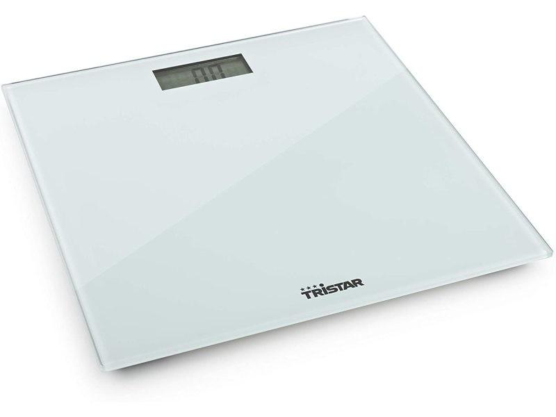Pèse personne électronique avec écran lcd jusqu'à 150 kg transparent blanc