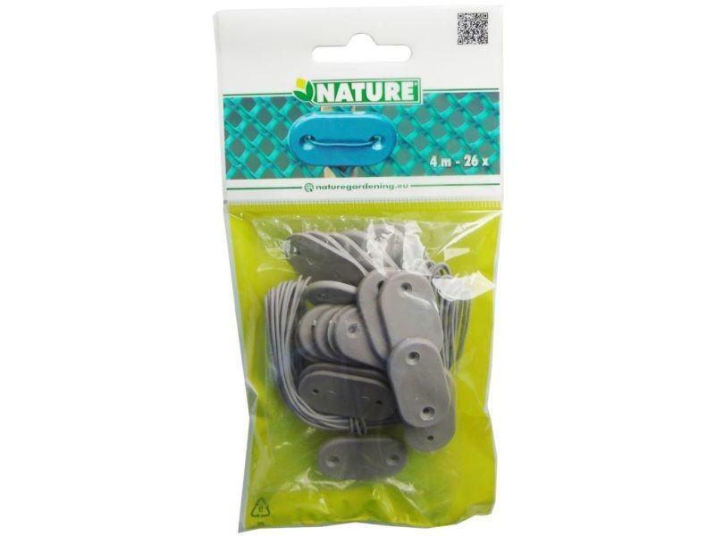 Icaverne - accessoires pour clôtures et portillons reference nature kit de fixation pour clôture de jardin 27 pcs gris 6050396