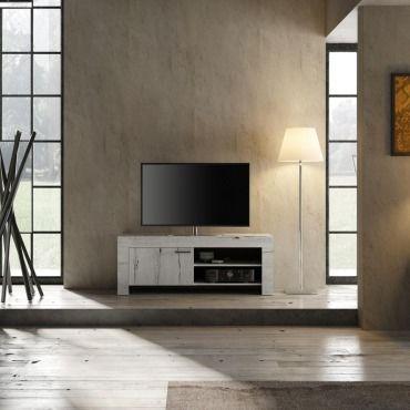 Meuble Tv 140 Cm Contemporain Timba2 53 Cm Crème Vente De