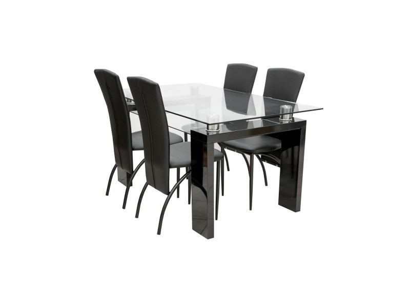 table 4 chaises conforama. Black Bedroom Furniture Sets. Home Design Ideas