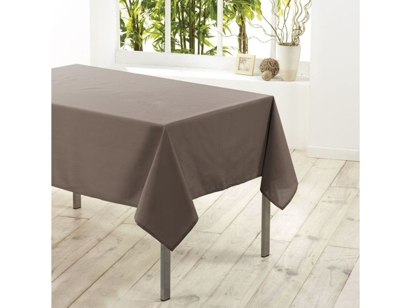 Nappe rectangle polyester taupe 140 x 250 cm 1720206-taupe