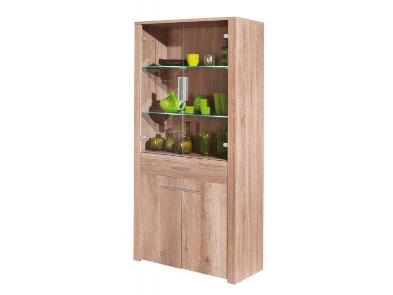 Commode buffet vitrine meuble de rangement bureau cuisine séjour décor chêne - Vente de ...