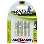 Pack de 4 accus ansmann aaa micro 550mah