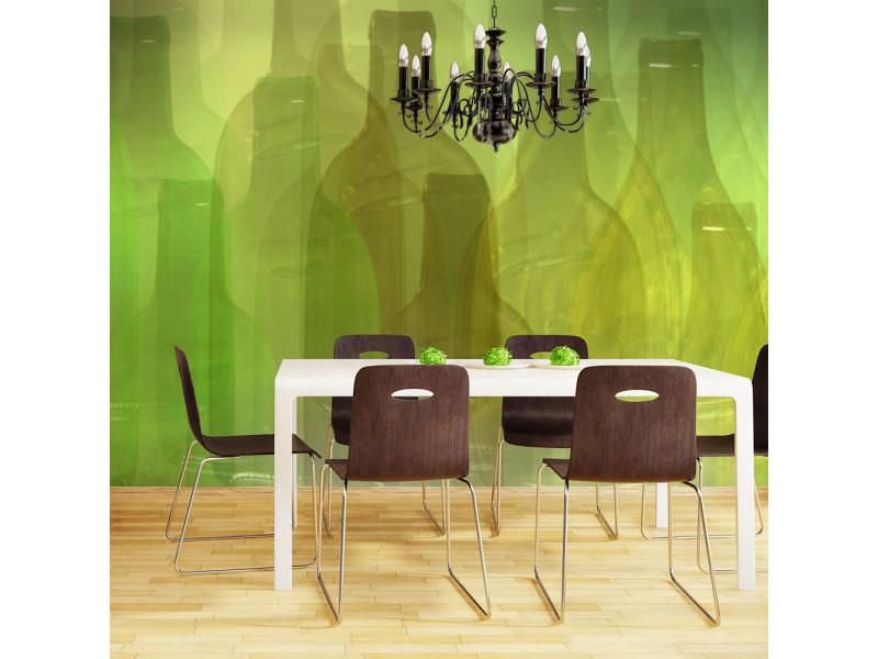 350x270 papier peint motifs de cuisine inedit bouteilles vertes