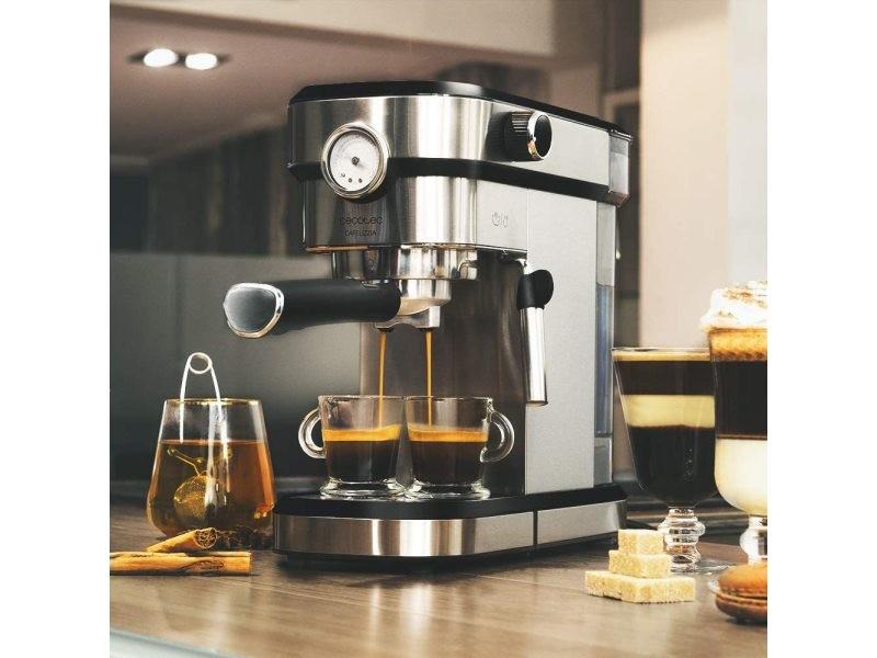 Machine à café expresso de 1,2l 1350w gris noir