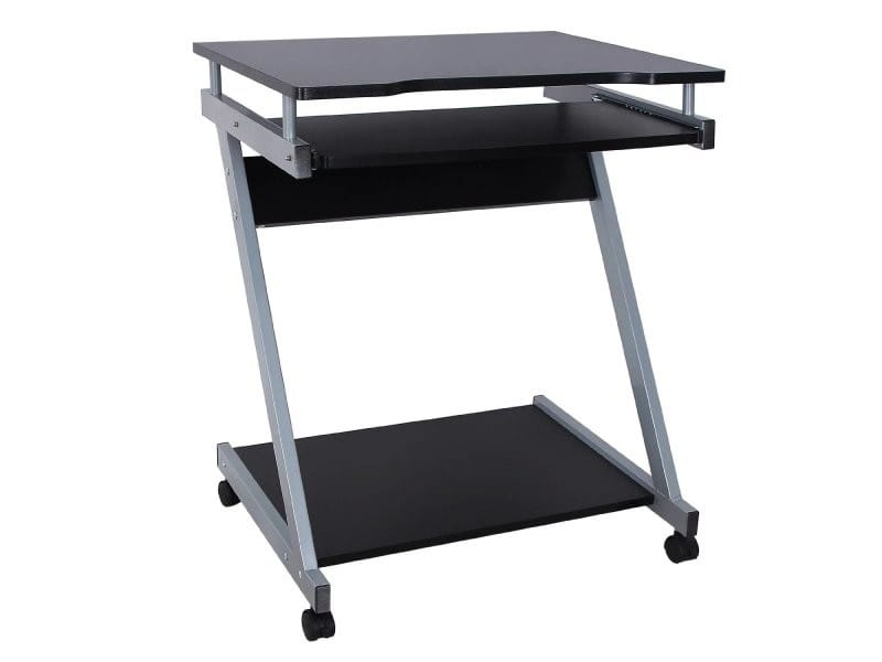 Bureau table meuble informatique avec tablette clavier noir helloshop26 0512001 vente de - Meuble bureau informatique conforama ...