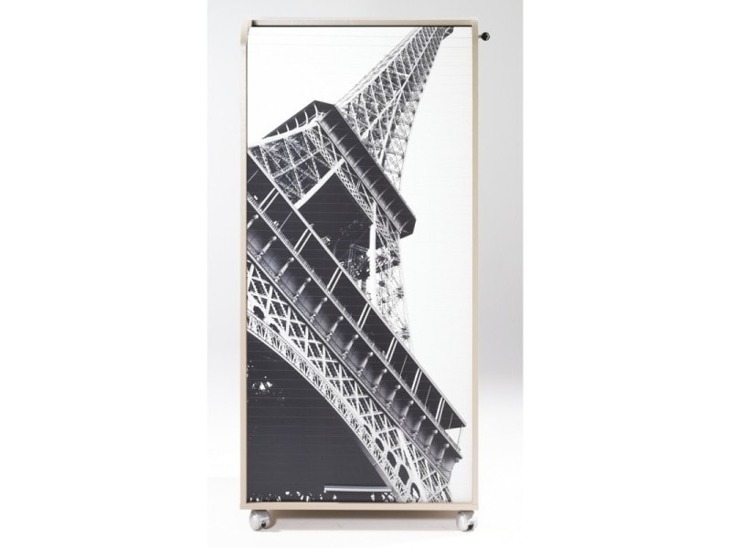 Armoire Informatique Mobile Taupe 2 Tiroirs Coloris Tour Eiffel