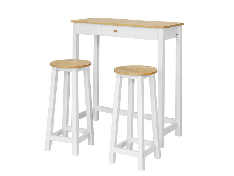 Set De 1 Table 2 Tabourets Table Mange Debout Table Haute