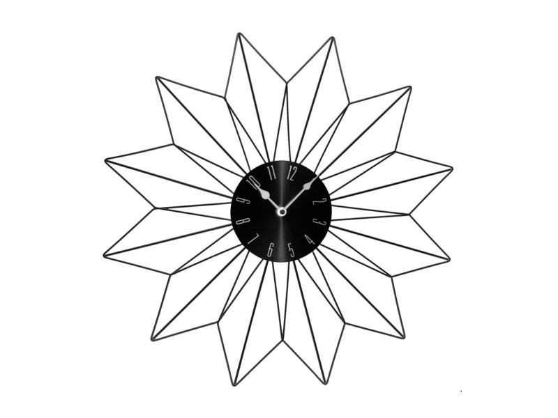 Pendule étoile - 50 x 4,5 x 50 cm - métal - noir ACD3560234537804