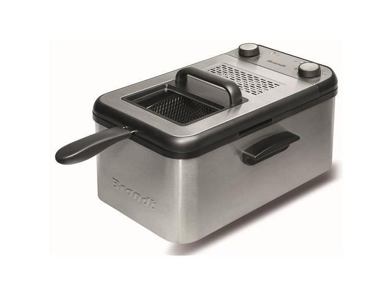 Friteuse semi pro 2200w 4,2l 1,5kg th° cuve amovible demontable minuteu brandt - fri4200