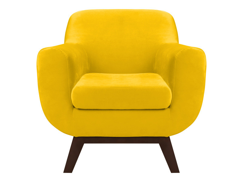 fauteuil copenhague en velours jaune vente de tous les fauteuils conforama. Black Bedroom Furniture Sets. Home Design Ideas
