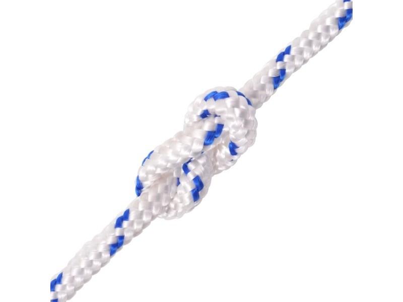 Icaverne - cordes et câbles de construction gamme corde de bateau polypropylène 14 mm 250 m blanc