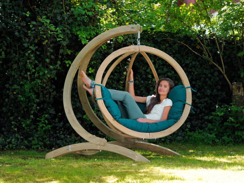 Nacelle jardin globo chair vert az 2030800 vente de amazonas conforama - Nacelle suspendue jardin ...