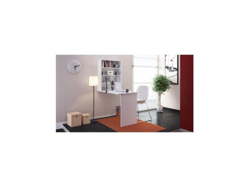 Small bureau rabattable contemporain blanc l 150 cm vente de