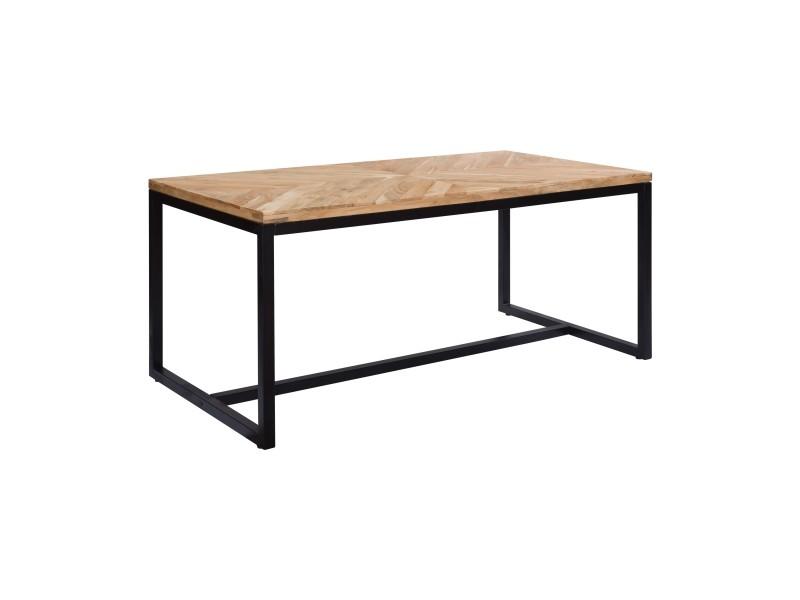 Table rectangulaire cameron 170 cm en bois d'acacia