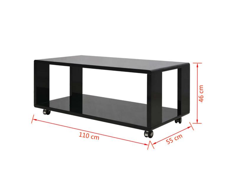 Vidaxl table basse noire haute brillance 242973 - Vente de VIDAXL ... addb7fb0b89