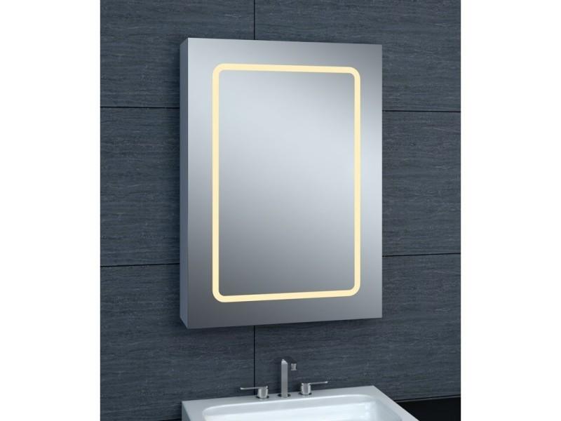 Armoire de toilette aluminium - modèle jaya 50 - 70 cm x 50 ...