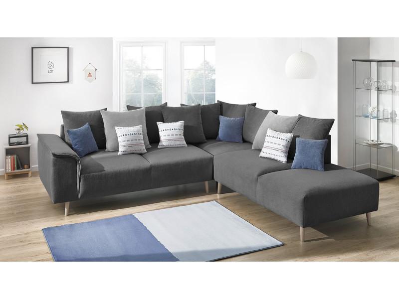 canape d 39 angle london droit gris fonce vente de bobochic conforama. Black Bedroom Furniture Sets. Home Design Ideas
