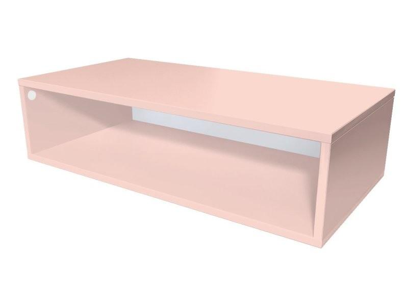Cube de rangement bois 100x50 cm rose pastel CUBE100-RP