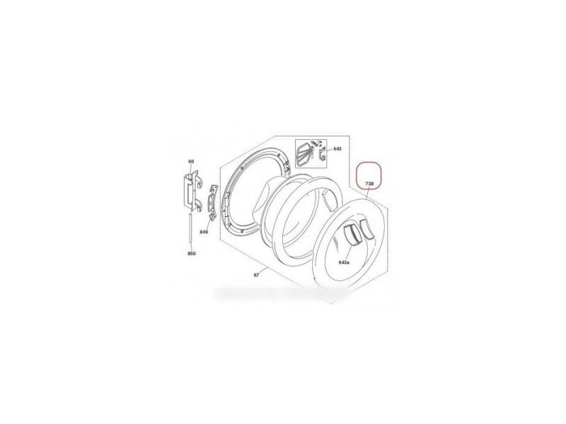 Protection hublot exterieur pour lave linge hoover